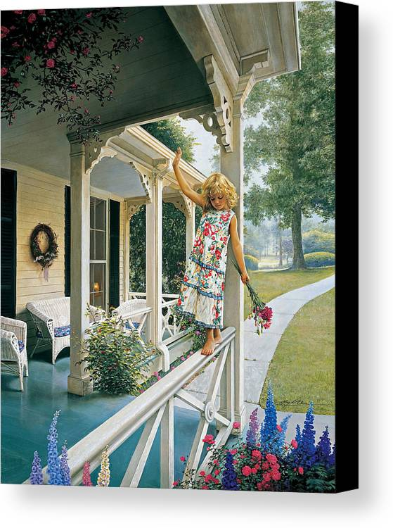 Little Girl Canvas Print featuring the painting Delicate Balance by Greg Olsen