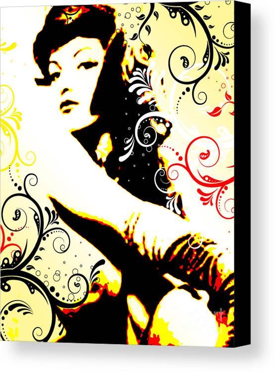 Nostalgic Seduction Canvas Print featuring the digital art Desire by Chris Andruskiewicz