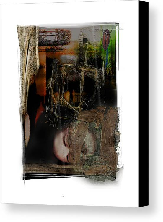 Portrait Canvas Print featuring the digital art Down by Nuff