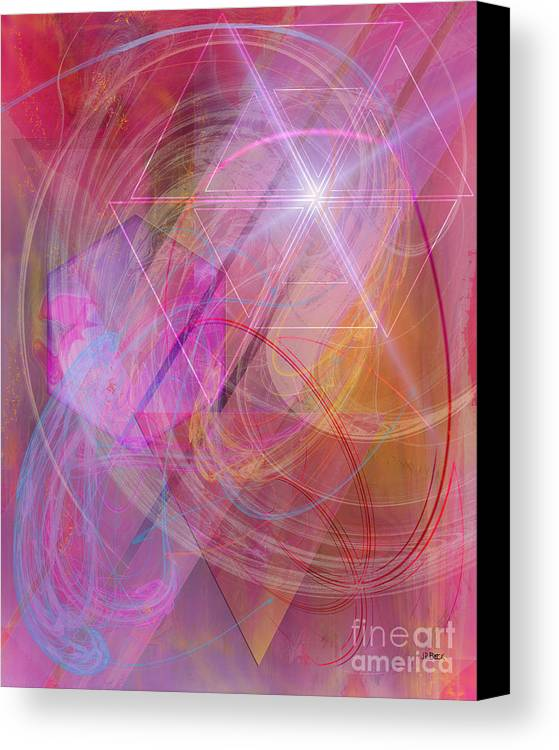 Dragon's Gem Canvas Print featuring the digital art Dragon's Gem by John Beck