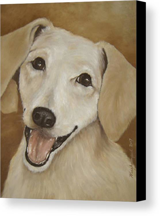 Oils Canvas Print featuring the painting Dusty by Winifred Ann Weishampel