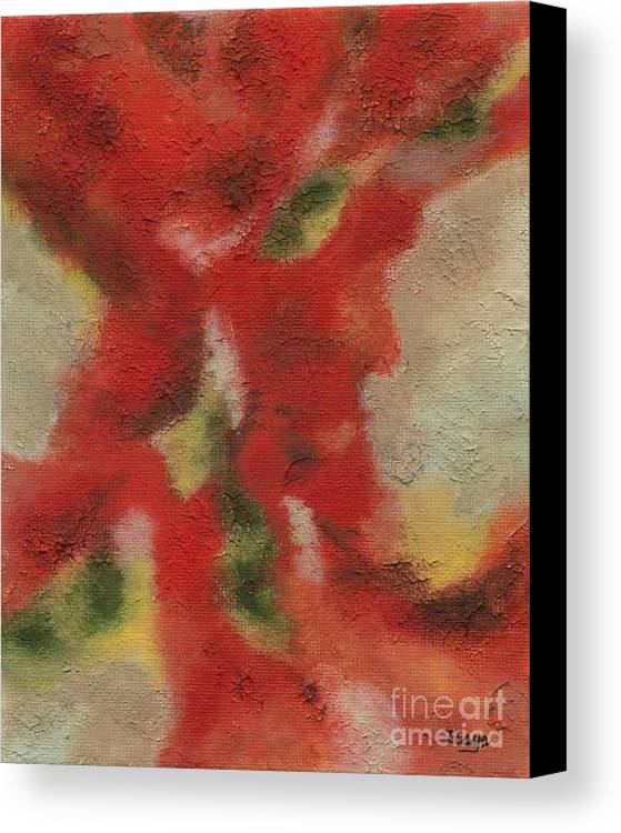 Abstract Canvas Print featuring the painting Ebb And Flow by Itaya Lightbourne