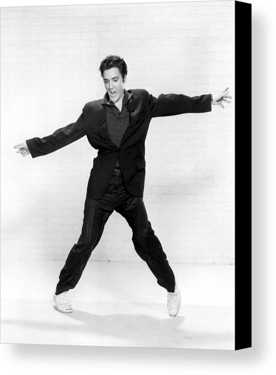 1950s Canvas Print featuring the photograph Elvis Presley by Everett