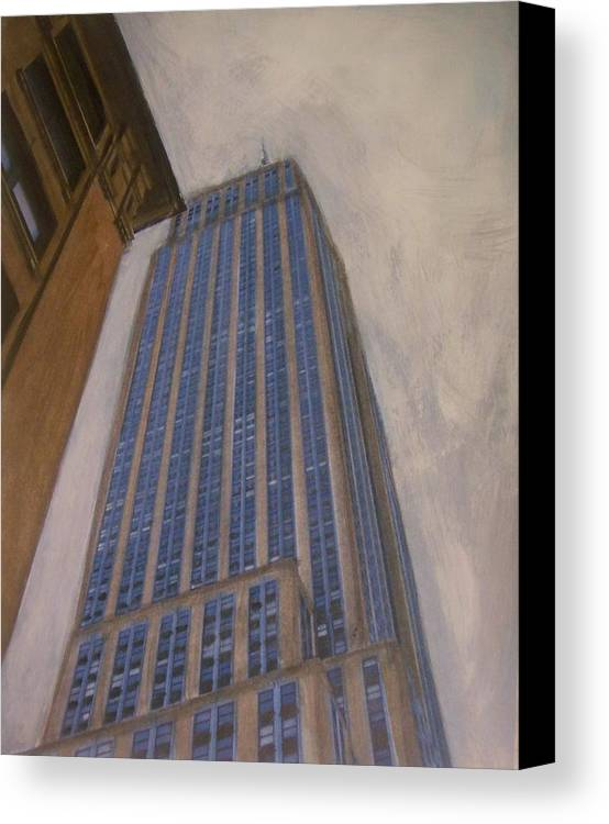 Empire State Building Canvas Print featuring the mixed media Empire State Building 2 by Anita Burgermeister