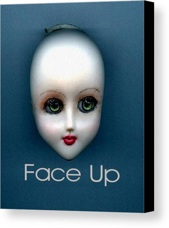 Face Up Canvas Print featuring the photograph Face Up by T Cook