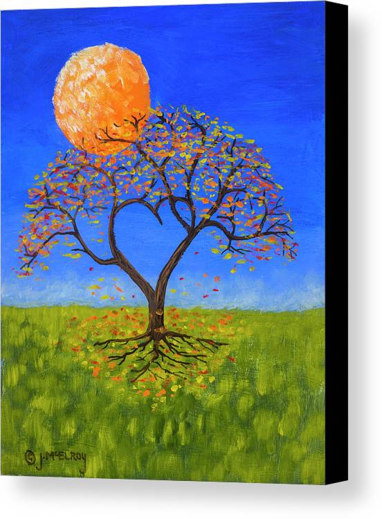 Love Canvas Print featuring the painting Falling For You by Jerry McElroy