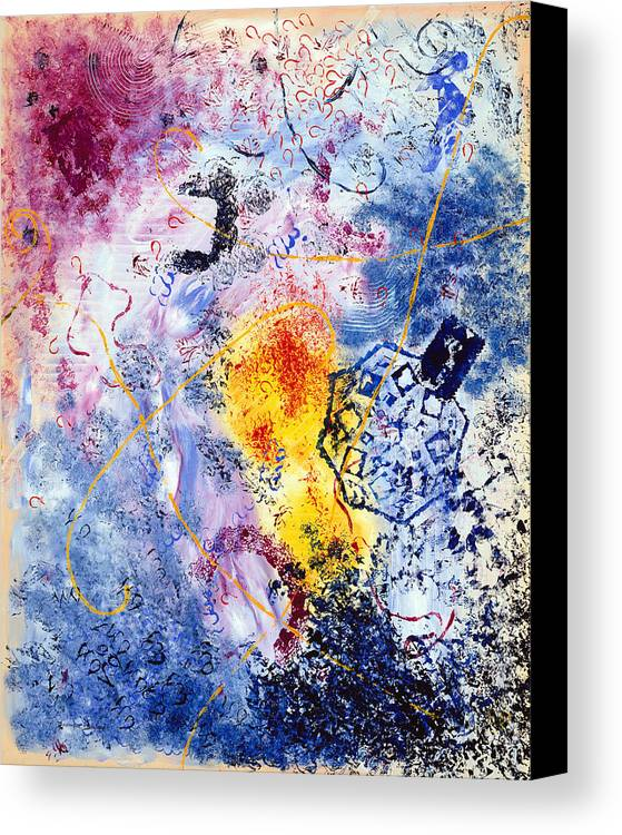 Abstract Canvas Print featuring the painting Fantaisies by Dominique Boutaud