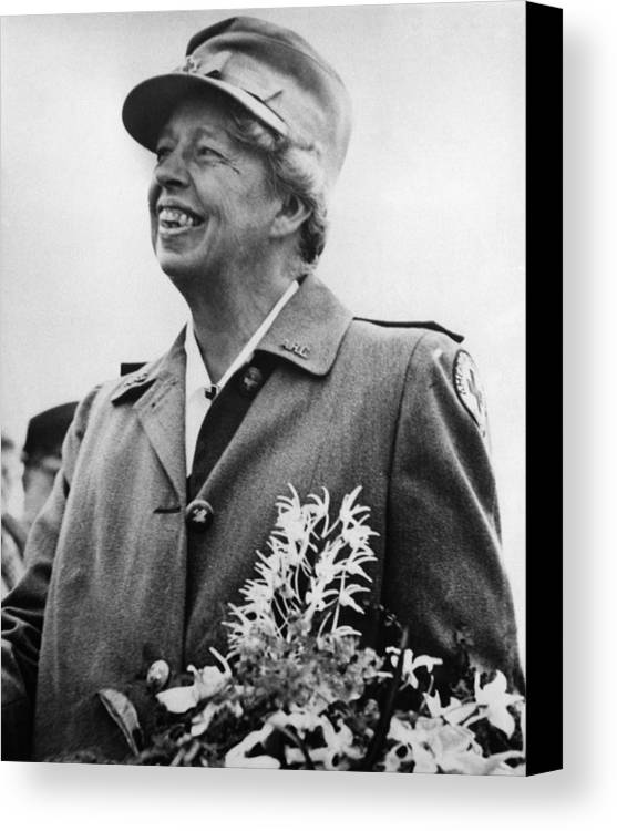 1940s Canvas Print featuring the photograph Fdr Presidency. Eleanor Roosevelt by Everett