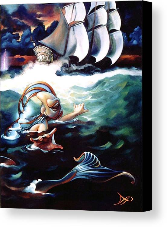 Seafarer Canvas Print featuring the painting Finnegan's Quest by Patrick Anthony Pierson