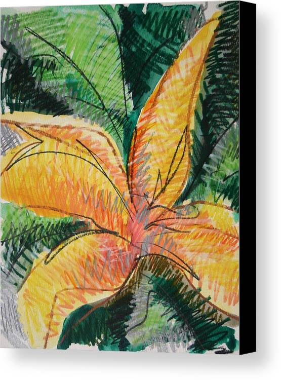 Lily Canvas Print featuring the painting Flora Exotica 2 by Dodd Holsapple