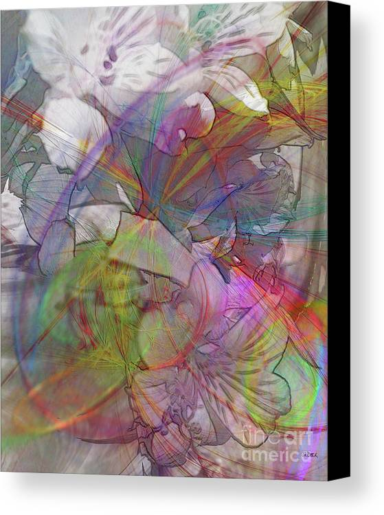 Floral Fantasy Canvas Print featuring the digital art Floral Fantasy by John Beck