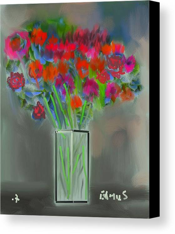 Art Canvas Print featuring the painting Flores 1 by Carlos Camus