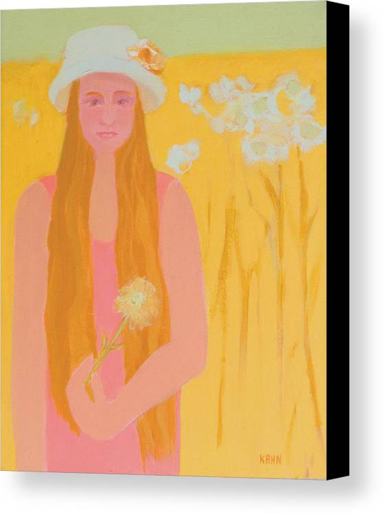 Flower Canvas Print featuring the painting Flower Child by Renee Kahn