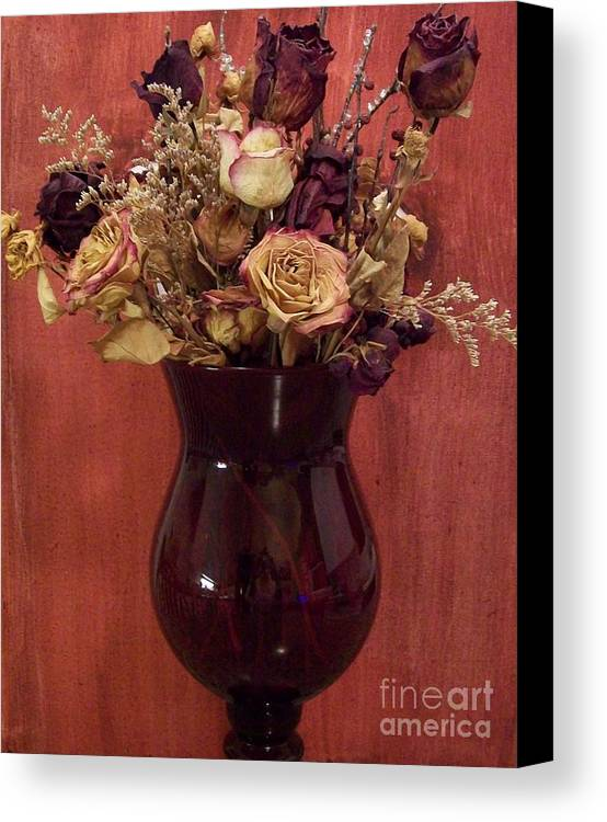 Dried Flowers Canvas Print featuring the photograph Flowers Of Love by Marsha Heiken