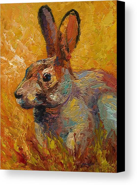 Rabbit Canvas Print featuring the painting Forest Rabbit IIi by Marion Rose