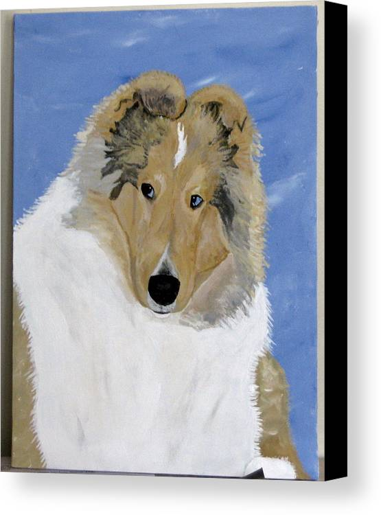 Collie Canvas Print featuring the painting Frey by Wendy Jackson