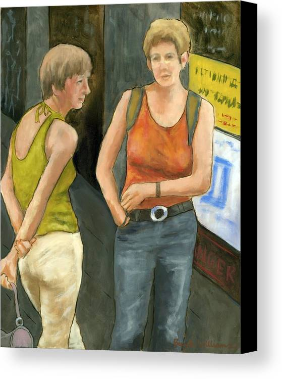 Figurative Canvas Print featuring the painting Galway Afternoon by Brenda Williams
