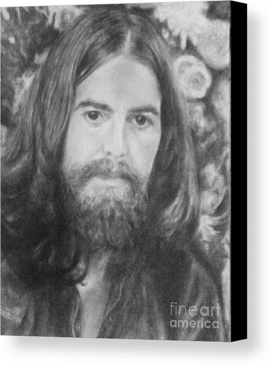 Canvas Print featuring the drawing George Harrison by Holly Bohannon