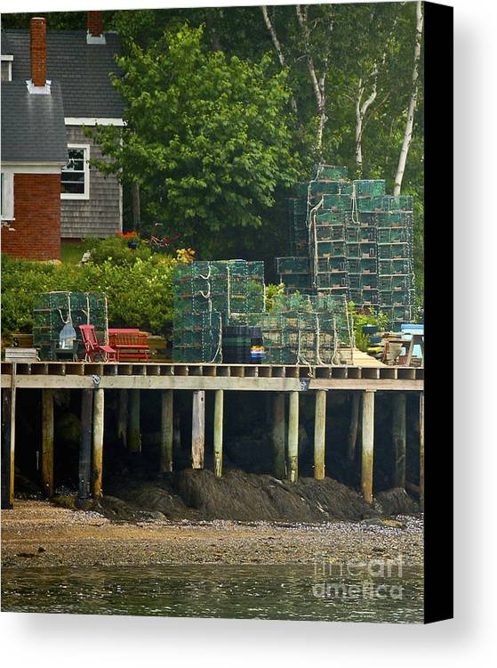 Lobster Canvas Print featuring the photograph Getting Ready To Lobster by Faith Harron Boudreau