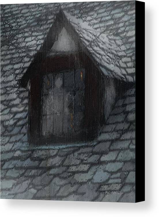 Ghost Canvas Print featuring the painting Ghost Rain by RC deWinter