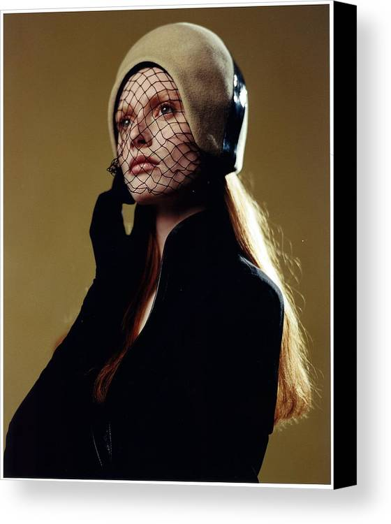 Female Canvas Print featuring the photograph Girl In Net Hat by Rusty Walton