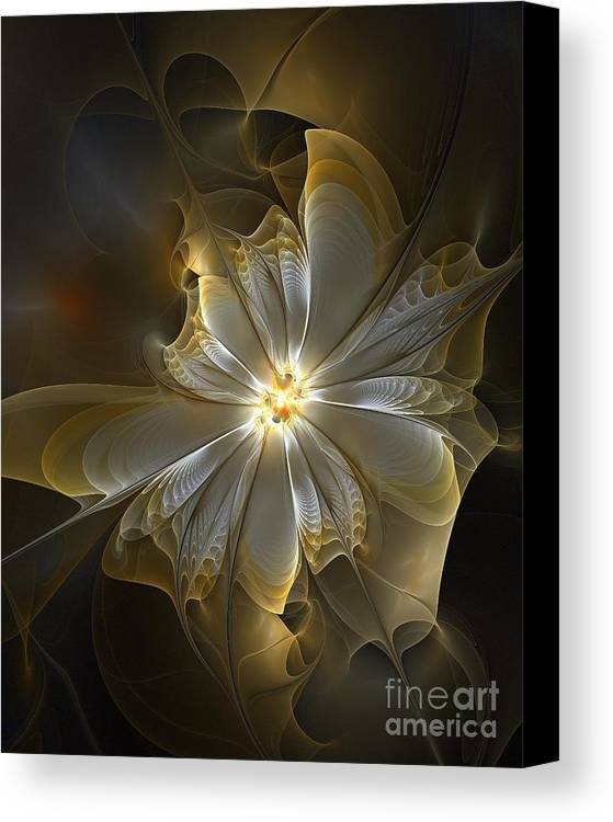 Digital Art Canvas Print featuring the digital art Glowing In Silver And Gold by Amanda Moore