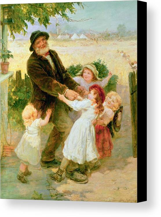 Quaint Canvas Print featuring the painting Going To The Fair by Frederick Morgan