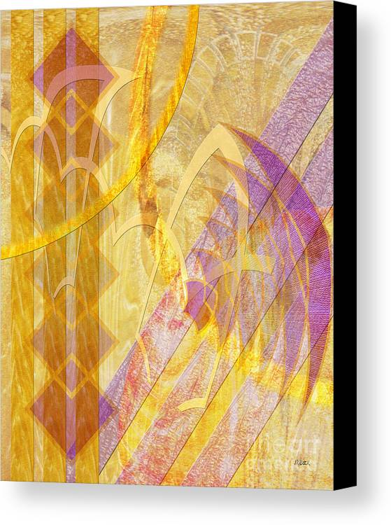 Gold Fusion Canvas Print featuring the digital art Gold Fusion by John Beck