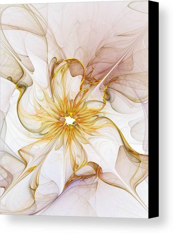 Digital Art Canvas Print featuring the digital art Golden Glow by Amanda Moore