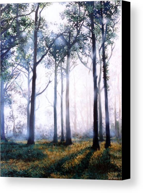 Oil Canvas Print featuring the painting Good Morning by Chonkhet Phanwichien