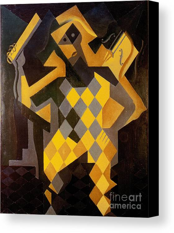 1919 Canvas Print featuring the photograph Gris: Harlequin by Granger