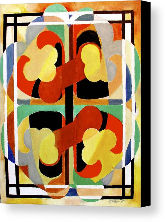 Omnipotence Canvas Print featuring the painting Gyenyameduamframmadan by G Cuffia