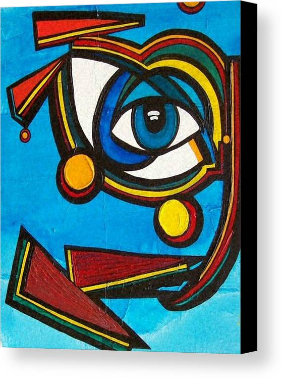 Abstract Canvas Print featuring the painting HE by Valerie Wolf