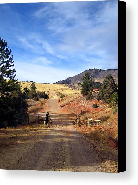 Landscapes Canvas Print featuring the photograph Home On The Range by Julie Magers Soulen