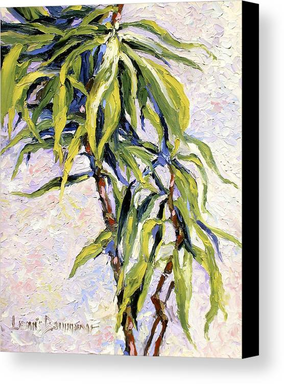 Yucca Canvas Print featuring the painting House Plant by Lewis Bowman