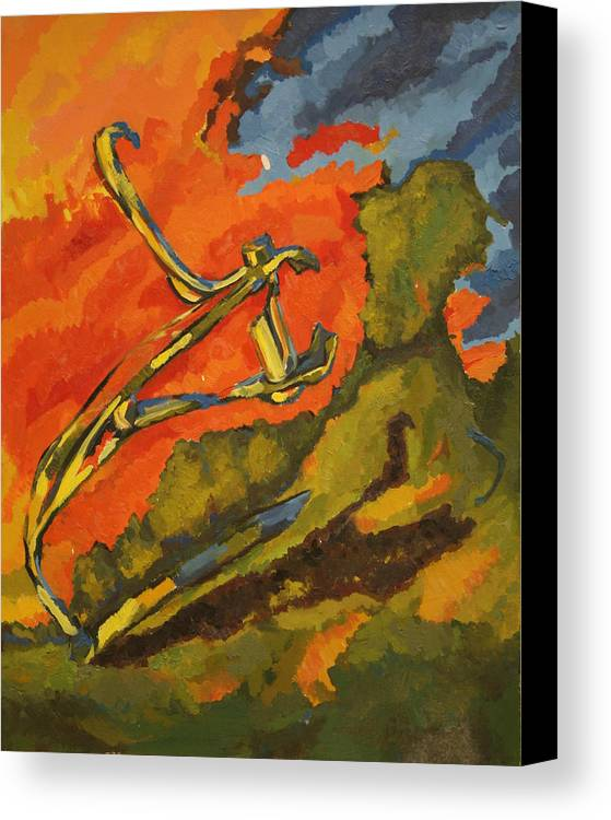 Abstract Canvas Print featuring the painting Hunting Clippers by Danielle Wilbert