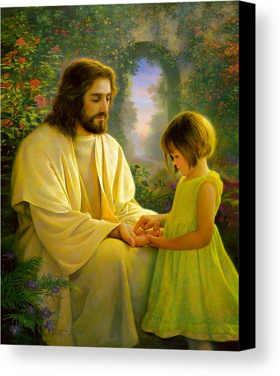 Savior Canvas Print featuring the painting I Feel My Savior's Love by Greg Olsen