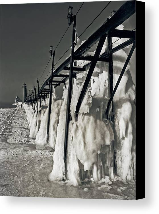 Scenes Landscape Canvas Print featuring the photograph Icescape by Marvin Seiger