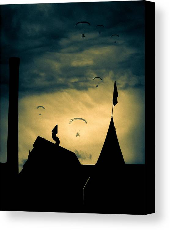 Apocalypse Canvas Print featuring the photograph Industrial Carnival by Bob Orsillo