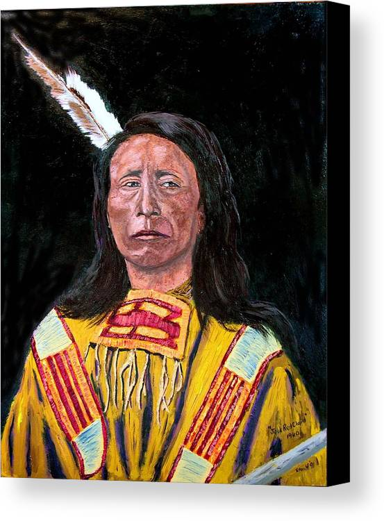 Indian Canvas Print featuring the painting Jack Red Cloud by Stan Hamilton