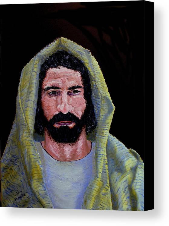 Jesus Christ Canvas Print featuring the painting Jesus In Contemplation by Stan Hamilton