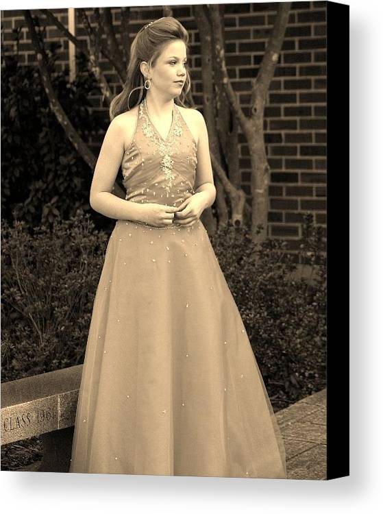 Canvas Print featuring the photograph Jodi B by Lisa Johnston