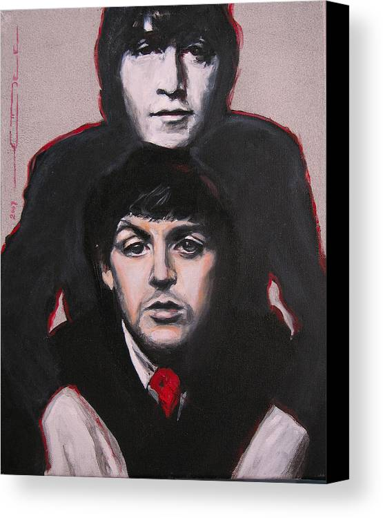 The Beatles Canvas Print featuring the painting John's Ghost by Eric Dee