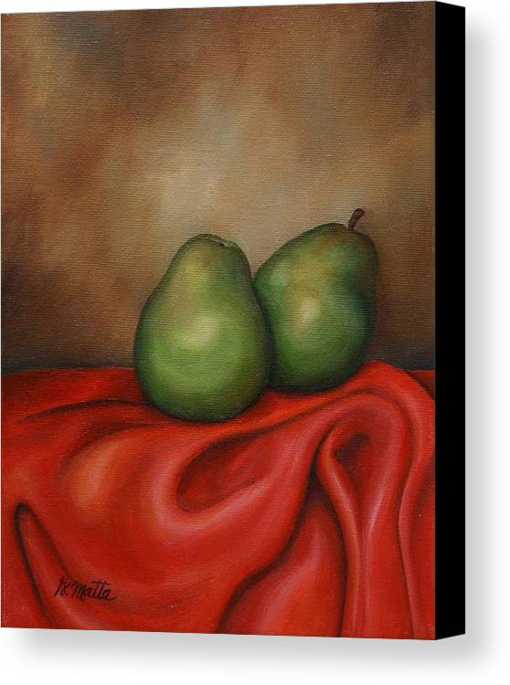 Still Life Canvas Print featuring the painting Just A Pair by Gretchen Matta