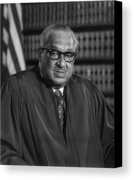 History Canvas Print featuring the photograph Justice Thurgood Marshall 1908-1993 by Everett
