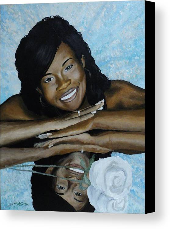 Portrait Canvas Print featuring the painting Kera by Angelo Thomas