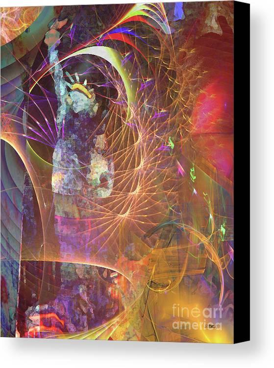 Lady Liberty Canvas Print featuring the digital art Lady Liberty by John Beck