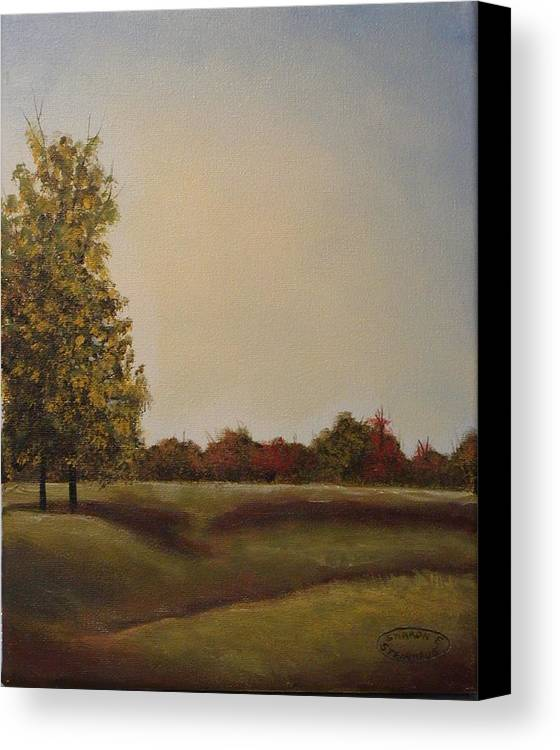 Original Acrylic Landscape Canvas Print featuring the painting Lakeridge Meadow by Sharon Steinhaus