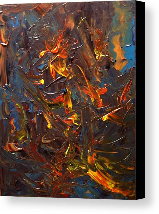 Abstract Canvas Print featuring the painting Laugh And Learn by Karen L Christophersen