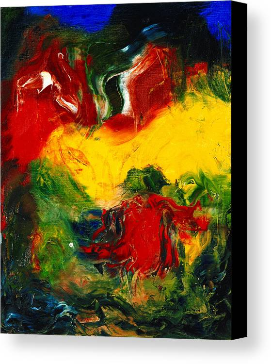 Abstract Canvas Print featuring the painting Le Penseur by Dominique Boutaud